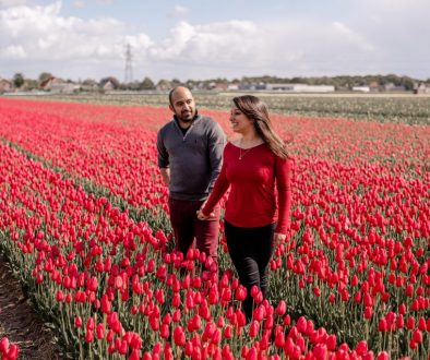 flower field photoshoot Lisse